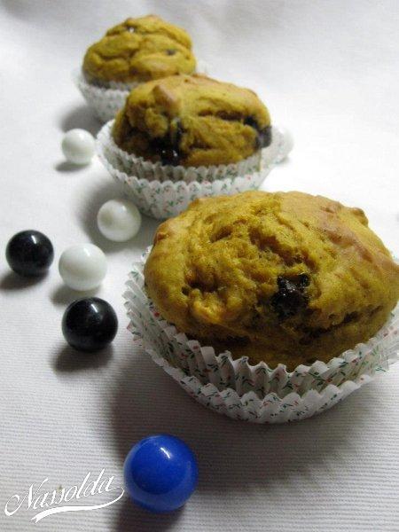 Sütőtökös, csokis muffin