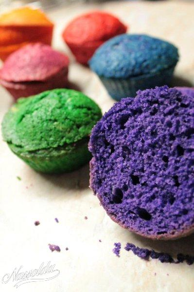 Színes muffin tészta