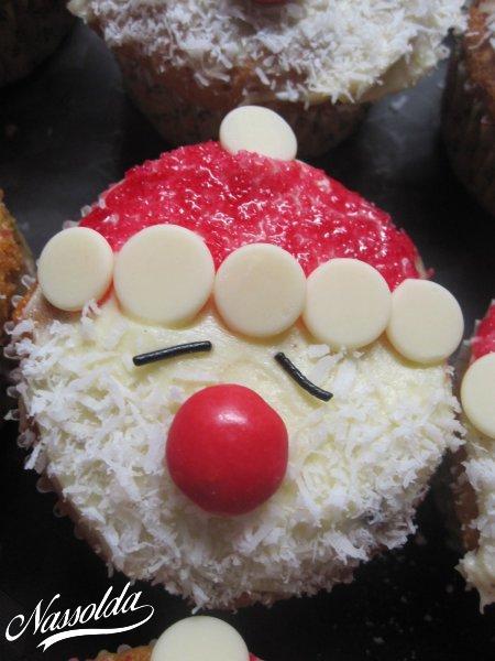 Kókuszos, mikulás muffin