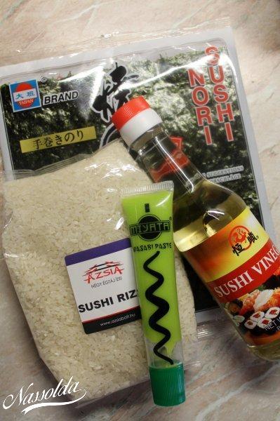Sushi alapanyagok