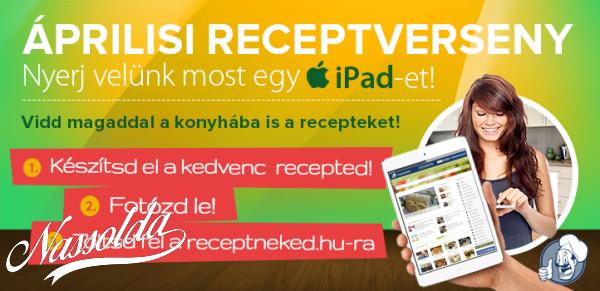 Küldj receptet, nyerj iPad-et!